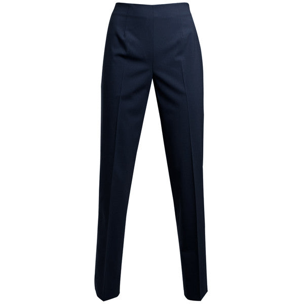 Classic Side Zip L/W Wool Pant in Navy