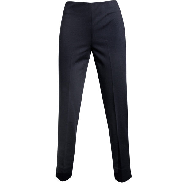 Viscose Knit Side Zip Pant in Navy