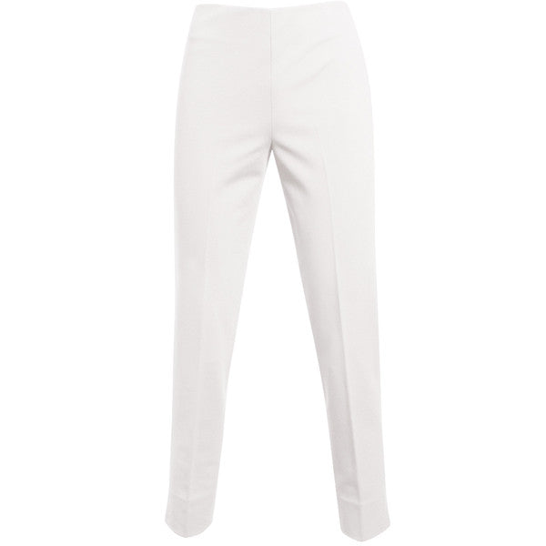 Viscose Knit Side Zip Pant in White