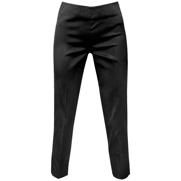 Dupioni Silk / Lycra Capri in Black