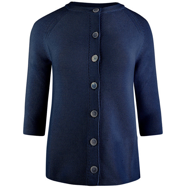 3/4 Raglan Sleeve Big Shirt in Deep Ocean Blue