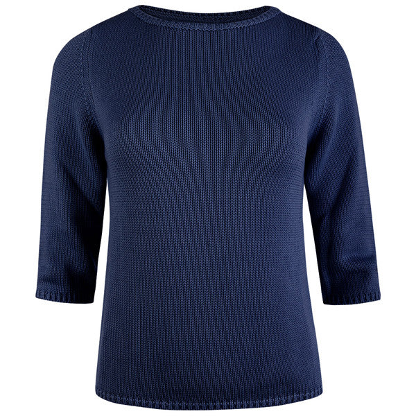 3/4 Sleeve Pullover in Navy