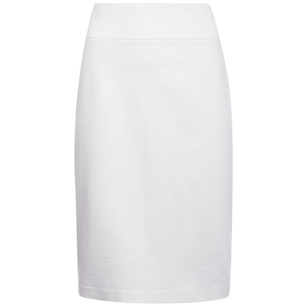 Viscose Knit Pencil Skirt in White