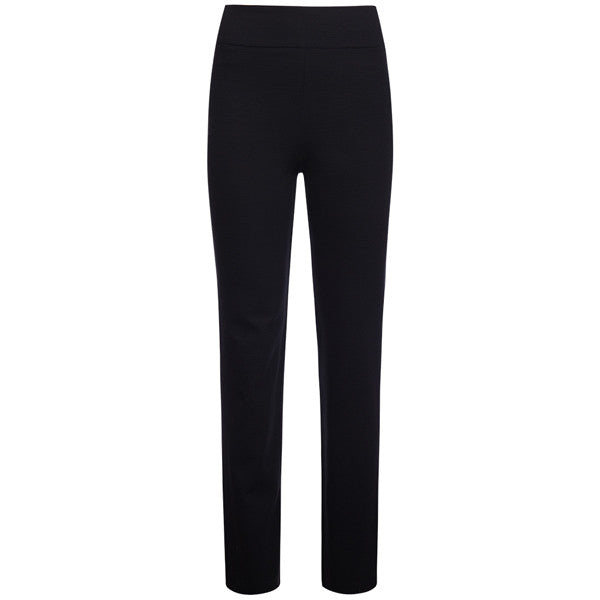 Cigarette-Leg Fiammato Pant in Black