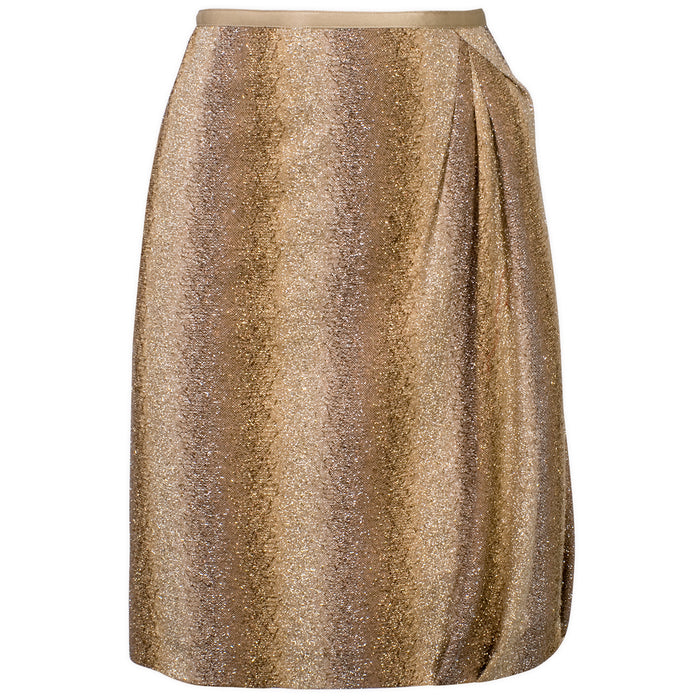 Sarong Sparkle Skirt in Metallic Gold And Bronze