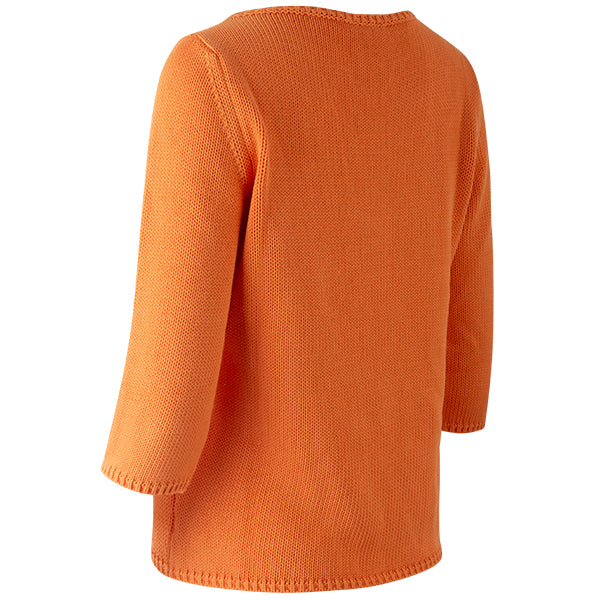 3/4 Sleeve Pullover in Arancia