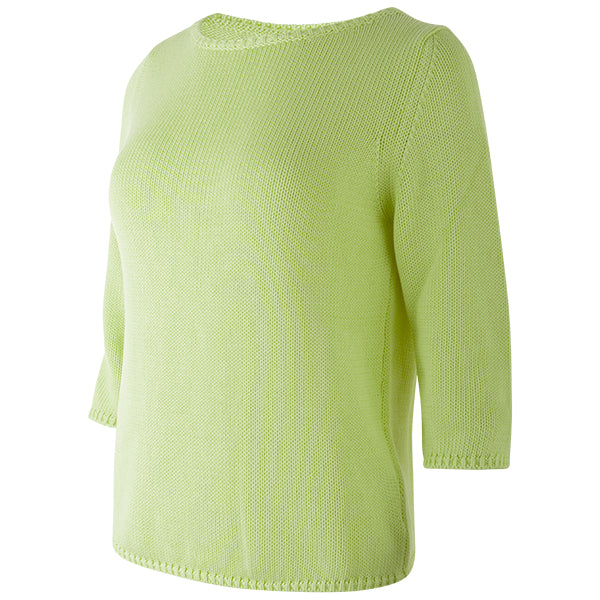 3/4 Sleeve Pullover in Lime