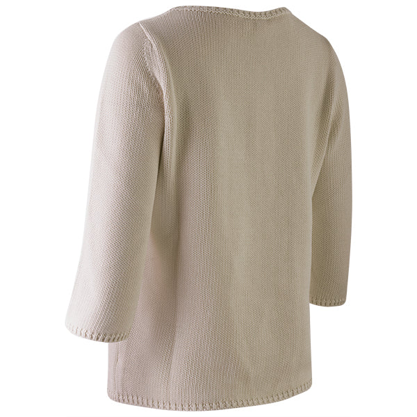 3/4 Sleeve Pullover in Beige