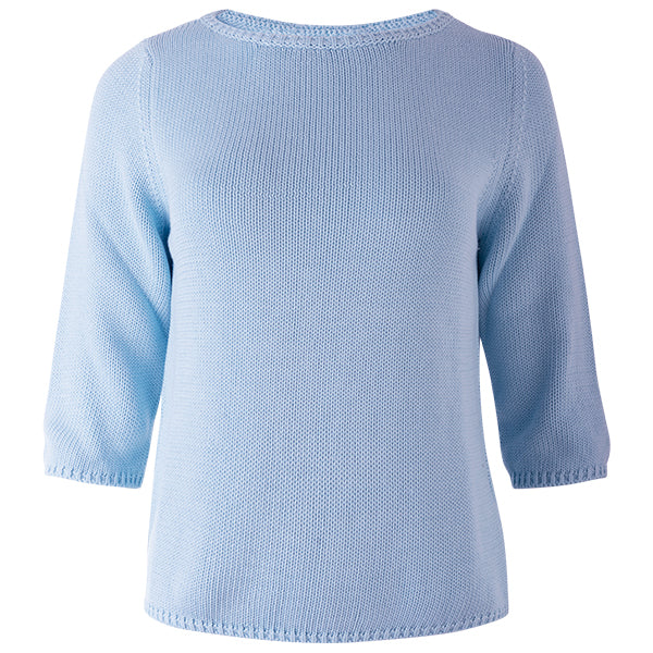 3/4 Sleeve Pullover in Baby Blue
