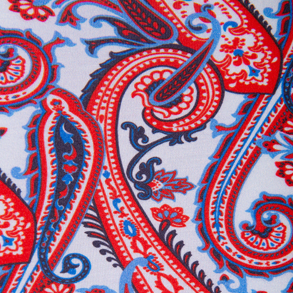Shaped Knit Tee in Patriotic Paisley