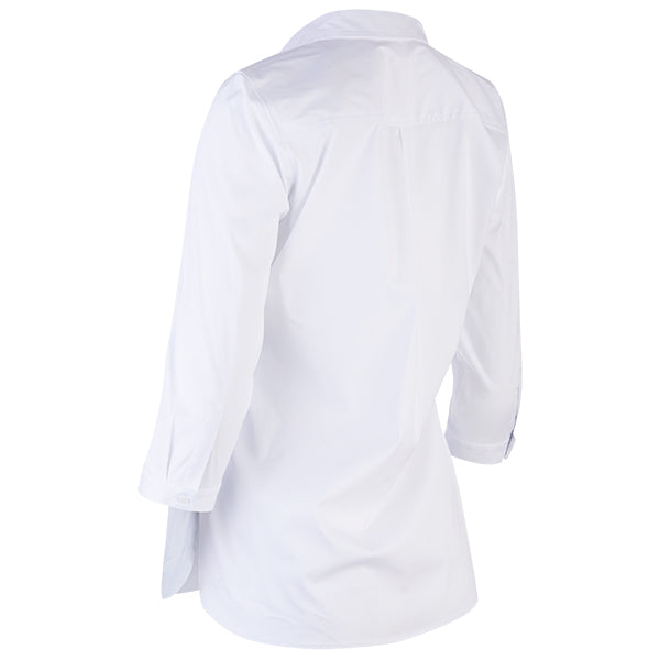 Stella Half Placket Shirt in White