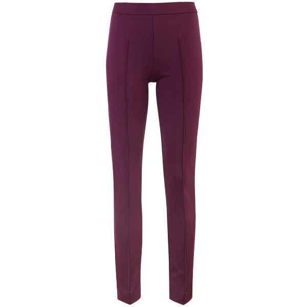 Slim Fit Pintuck Pant in Merlot