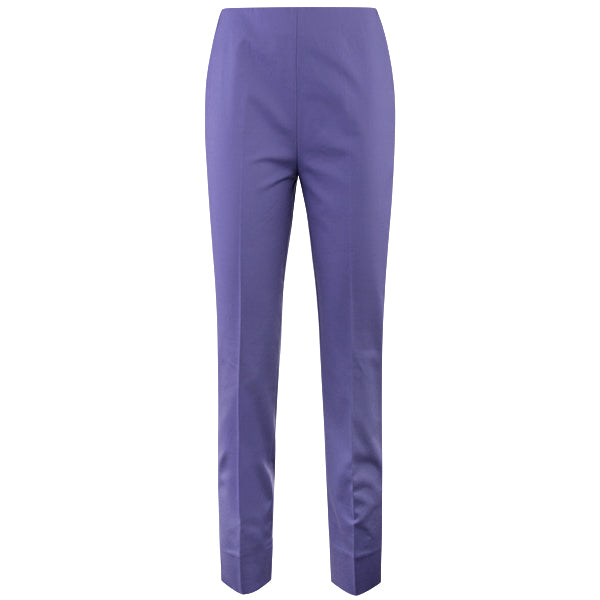 Cotton Stretch Slim Fit Pant in Purple