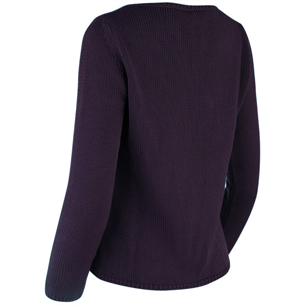Long Sleeve Pullover in Grape