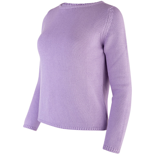 Long Sleeve Pullover in Lt Lavender