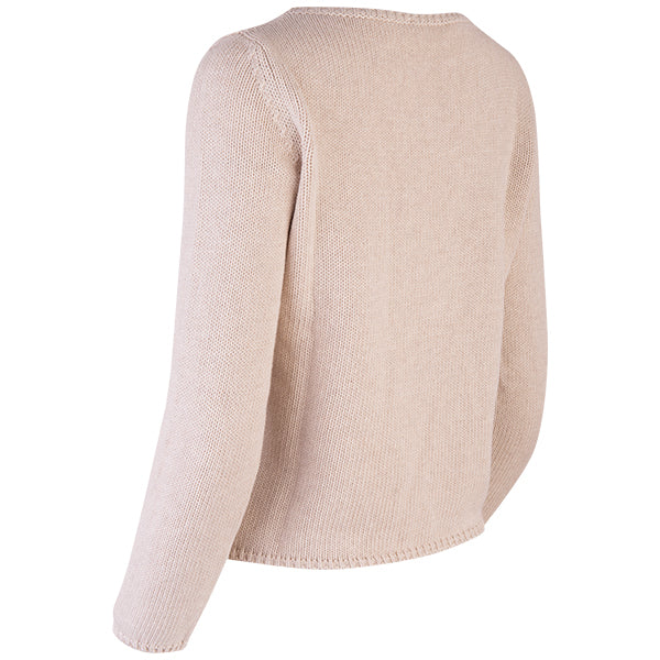 Long Sleeve Pullover in Beige
