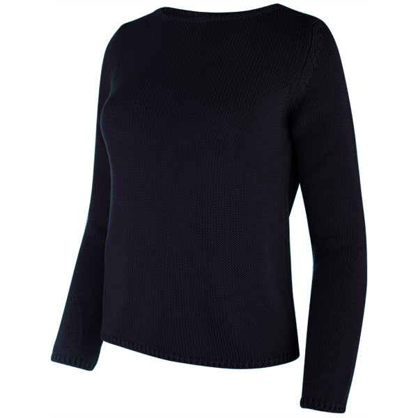 Long Sleeve Pullover in Navy