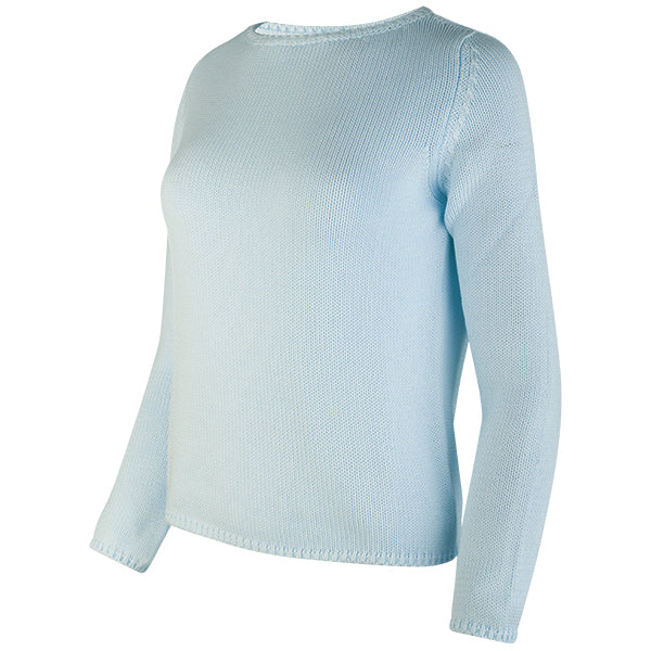 Long Sleeve Pullover in Light Blue
