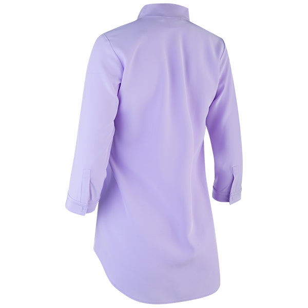 Inverted Notch Collar Tunic in Light Lavender
