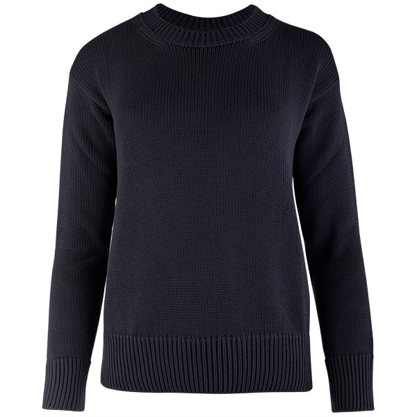 Oversized Round Neck Pullover in Navy