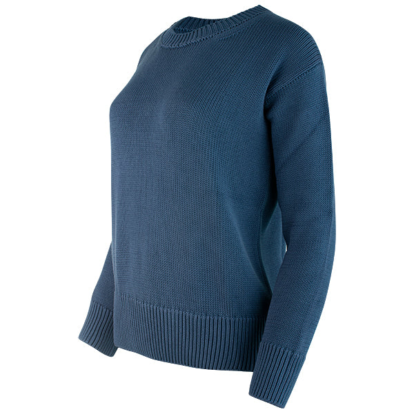 Oversized Round Neck Pullover in Teal