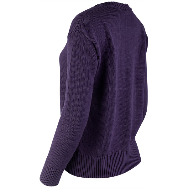 Oversized Round Neck Pullover in Grape