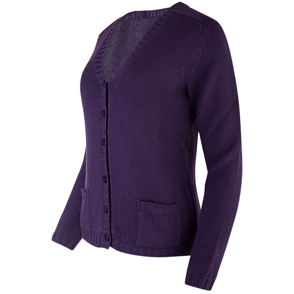 Varsity Cardigan in Grape