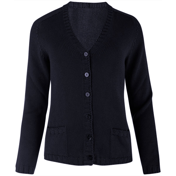 Short Varsity Cardigan in Navy