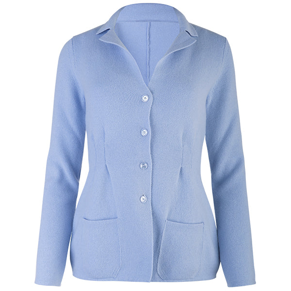 Pleated Front Blazer in Lt Blue