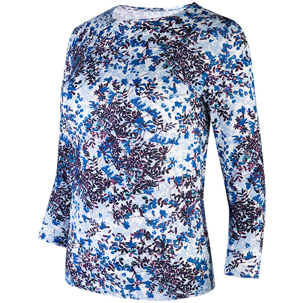 Viscose Shaped Knit Tee in Floral Beauty