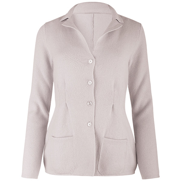 Pleated Front Blazer in Sand