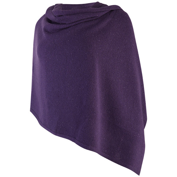Cashmere Sequin Shawl in Grape