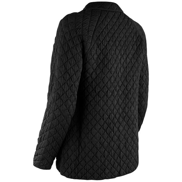 Quilted Jacket Cardigan in Black