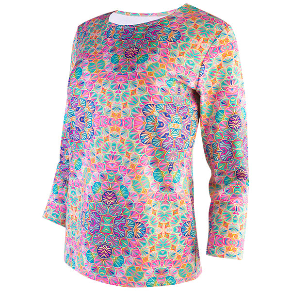 Shaped Knit Tee in Kaleidoscope