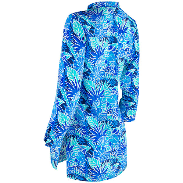 Audrey Tunic in Blue Palm
