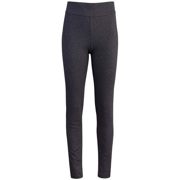 Cotton Knit Pull-on Pant in Dark Grey Melange
