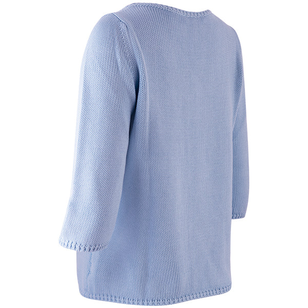 3/4 Sleeve Pullover in Light Blue