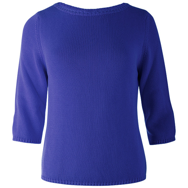 3/4 Sleeve Pullover in Royal Blue