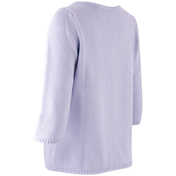 3/4 Sleeve Pullover in Wisteria