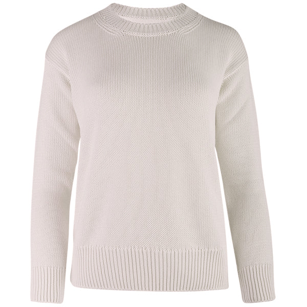 Oversized Round Neck Pullover in Stone