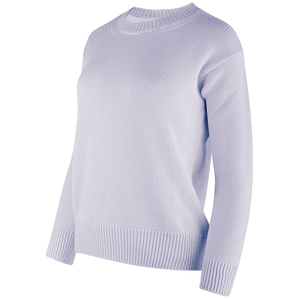 Oversized Round Neck Pullover in Wisteria