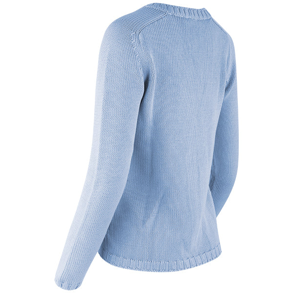 Varsity Cardigan in Light Blue
