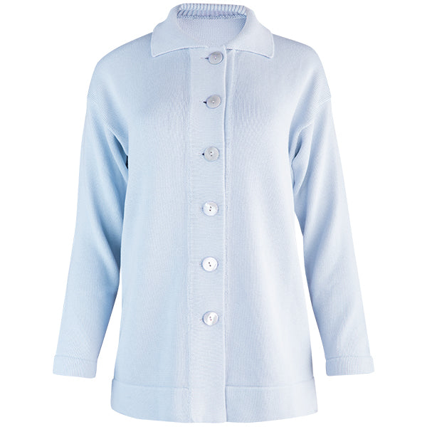 Boxy Cardigan in Light Blue