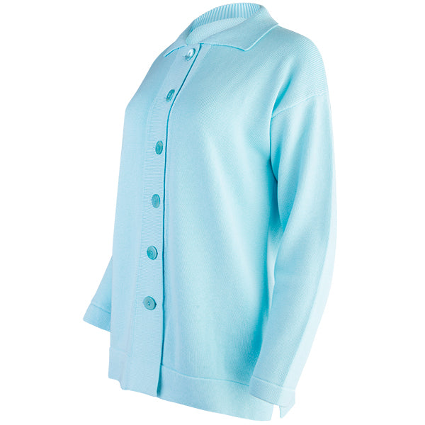 Boxy Cardigan in Light Turquoise