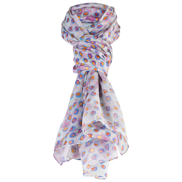 Printed Modal Cashmere Scarf in Glass Beads