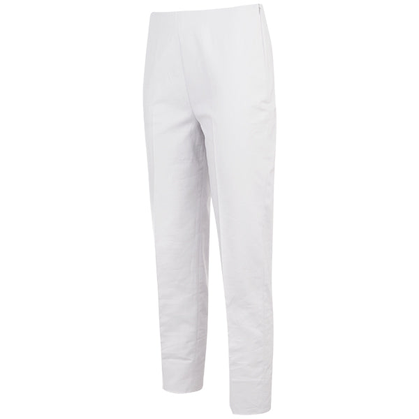 Slim Fit Capri in White