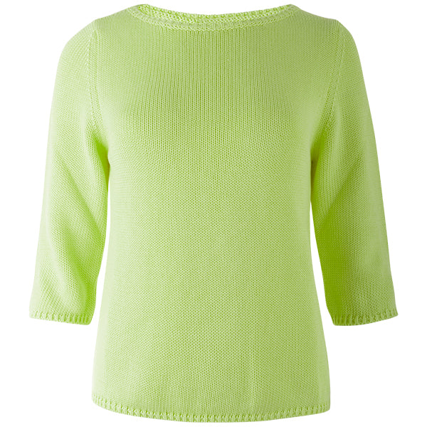 3/4 Sleeve Pullover in Apple Green