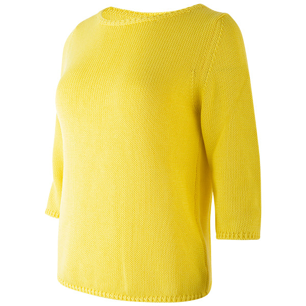 3/4 Sleeve Pullover in Yellow