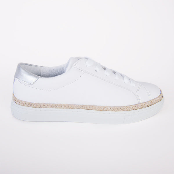 Daisy Sneaker in White Leather