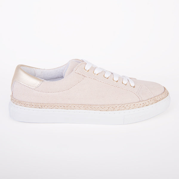 Daisy Sneaker in Sand Canvas
